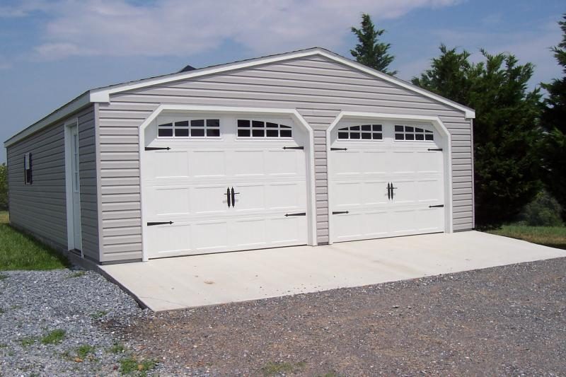 24x36 Floorless Double Wide Garage